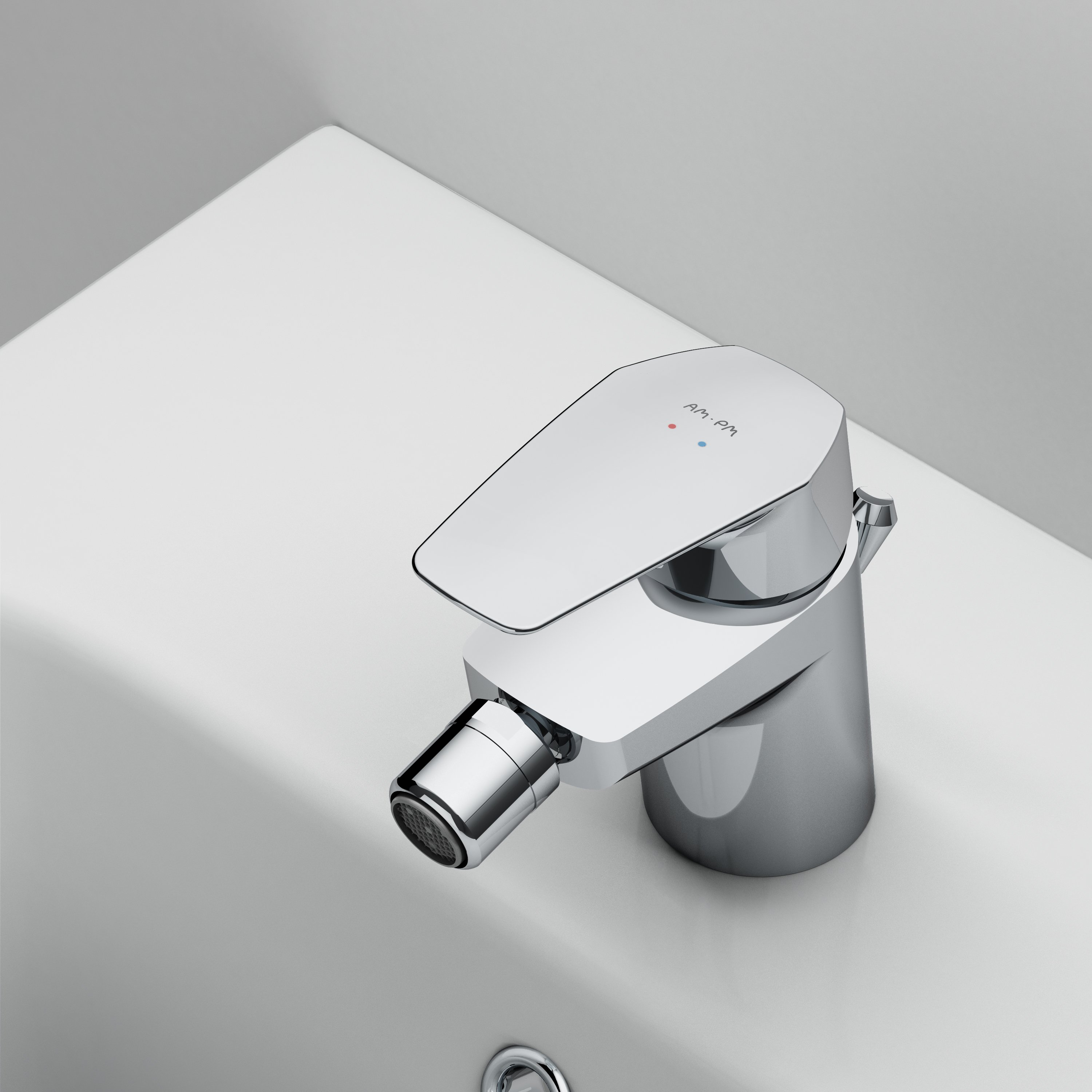 F9083100 Single-lever bidet mixer with waste set